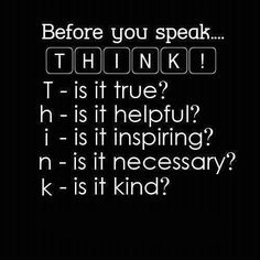 Para tomarlo en cuenta,  siempre!!
