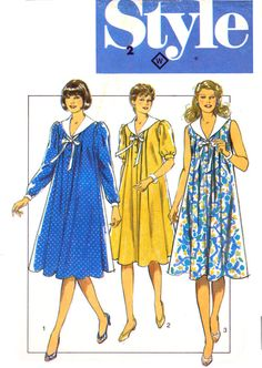 b2e7cf6b8325e 80s Style 3848 Maternity Wear: Pleated Dress by patternscentral Maternity  Wear, Maternity Dresses,