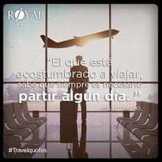 """#TravelQuotes: """"El que está acostumbrado a viajar, sabe que siempre es necesario partir algún día."""" #PauloCoelho"""