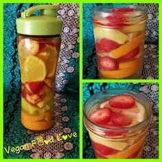 Next Detox Water mniam ☺ , Lemon, Orange and Strawberrys Vegan Food, Vegan Recipes, Detox, Strawberry, Photo And Video, Orange, Vegetables, Water, Witches