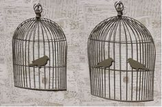 Bird Cage Memo Board Wall Art Vintage Chic French Country Cages Message