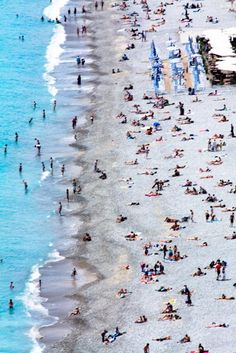 Travel Photography - Relaxing on the Beach on the French Riviera - Nice, France - 8x10 Fine Art Photograph. $30.00, via Etsy.