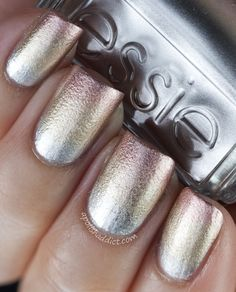 Essie No Place Like Chrome - Good As Gold - Penny Talk (gradient mani using the above polishes)