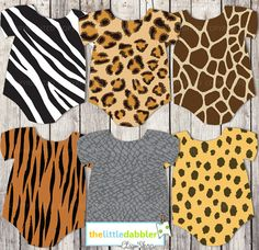 d8458a9fdead Animal Print Baby OnePieces Banner Invitation by thelittledabbler