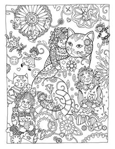 Adult Coloring Book Cat Beautiful Creative Haven Creative Cats Dover Publications Coloring Free Adult Coloring Pages, Cat Coloring Page, Animal Coloring Pages, Coloring Book Pages, Printable Coloring Pages, Coloring Pages For Kids, Coloring Sheets, Coloring Rocks, Creative Haven Coloring Books
