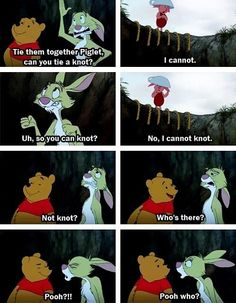 Hahahahaa this is the funniest thing I've ever seen! I love Winnie the Pooh :D