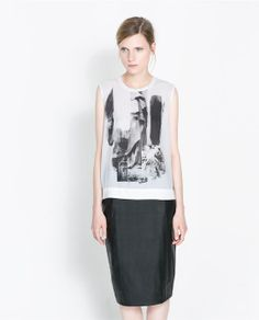 PRINTED TOP from Zara, $35.90