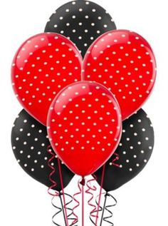 Fancy Ladybug Balloons 12in 6ct