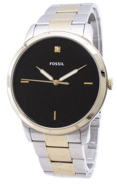 Stainless Steel Case Two Tone Stainless Steel Bracelet Quartz Movement Mineral Crystal Black Dial Analog Display Luminous Hands Pull/Push Crown Solid Case Back Deployment Clasp Water Resistance Approximate Case Diameter: Approximate Case Thickness: Fossil Watches, Rolex Watches, Stainless Steel Bracelet, Stainless Steel Case, White Watches For Men, Watch Sale, Watches Online, Watch Brands, Fashion Watches