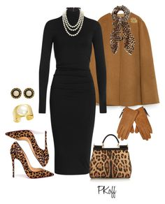 """""""Leopard Pint & Pearls!"""" by pkoff ❤ liked on Polyvore featuring moda, Zara, Donna Karan, Christian Louboutin, Dolce&Gabbana, Chanel, Kenneth Jay Lane, Vintage, Oasis i River Island"""