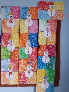 Winter Ideas, Kids Education, Techno, Crafts For Kids, Calendar, Greeting Cards, Holiday Decor, Children, Artwork