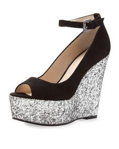 Black glitter shoes <3