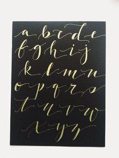 Love this alphabet Calligraphy Alphabet, Calligraphy Fonts, Typography Letters, Modern Calligraphy, Typography Design, Beautiful Calligraphy, Font Alphabet, Hand Lettering Fonts, Creative Lettering