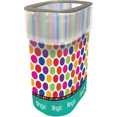 Polka Dots & Stripes Flings® Pop-Up Trash BinBuy three for $10! Mix and match with select patterns of other Fling Bins