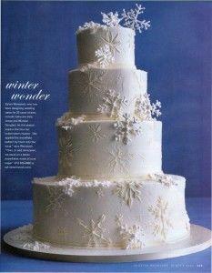 winter themed wedding cakes image 2