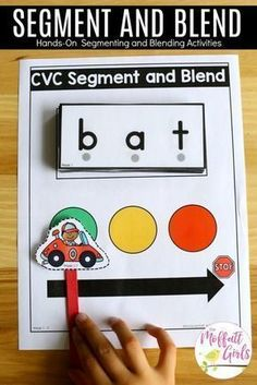 How to Teach the Alphabet Segment and Blend CVC Words- Teach letter recognition and letter formation, and move to reading with this fun phonics activity! Fun for Preschool and Kindergarten! Alphabet Kindergarten, Kindergarten Lesson Plans, Kindergarten Activities, Kindergarten Word Work, Kindergarten Procedures, Fun Phonics Activities, Alphabet Activities, Physical Activities, Letter Sound Activities