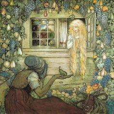Illustration by John Bauer for The Magician's Cape.