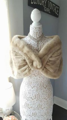 New arrival: Welcome to LuxuryVintageGirl.Etsy.com We are delighted to feature this stunning, vintage mink cape / stole / shrug that is perfectly suited for a wedding, bride, bridal attendants, mother of the bride, little black dress night, holiday parties. This exquisite Beige #shrugsfordresses