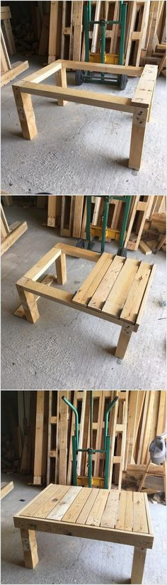 If you do want to try with the wood pallet idea designing with own self help then choosing with this plain form of wood pallet table is the ideal option for you. This wood pallet table is perfect for your living room which you can suitably utilize for the decoration piece adornment or even for the study purposes.