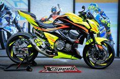 Kawasaki von X-Speed  - Moped - .Kawasaki by X-Speed  - moped - . Concept Motorcycles, Kawasaki Motorcycles, Cars And Motorcycles, Custom Moped, Custom Sport Bikes, Motorcycle Wheels, Scrambler Motorcycle, Super Bikes, Moped Motor