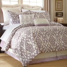Shop Joss & Main for your 8-Piece Ariana Comforter Set. Elegantly detailed with a stylish scrolling motif in a lavender and ivory palette, this lovely comforter set includes a bedskirt and 2 complementing pillows.