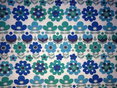 Floral pattern vintage fabric  1960s/70s