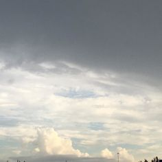 It's grey skies with a hint of white clouds!  #MotherNature #Clouds #Weather #Raining #Miami FL USA