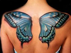 15 Amazingly Beautiful Butterfly Tattoos #t4aw #blog #butterfly #tattoos #tattoo #idea