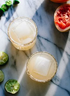 Refreshing grapefruit margaritas recipe with a spicy kick! cookieandkate.com