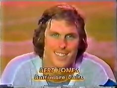 "Quarterback BERT JONES introducing himself on ""Monday Night Football"" on November 6, 1978. This was Bert's ""comeback"" game for the 1978 season, after suffering a devastating injury to his shoulder in the preseason that year which left him inactive almost the entire season."