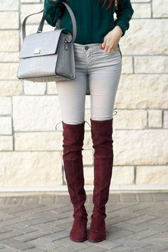 Those over the knee boots are amazing!