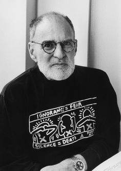 In One of His Final Interviews Larry Kramer, 84 and Infirm, Still Roared | Vanity Fair Larry Kramer, People With Hiv, Public Theater, Black Panther Party, King Book, Shirt Shop, T Shirt, Broken Leg
