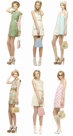 Beautiful vintage inspired pale pastel outfits