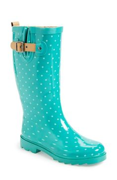 Chooka 'Classic Dot' Rain Boot (Women) available at #Nordstrom TOO CUTE!!!!!!! I ALSO LIKE THEM IN PURPLE