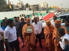 """અ.મ્યુ.કો. દ્વારા દધીચિ બ્રિજથી વાસણા બેરેજ સુધીના માર્ગનું """"પૂજ્ય પ્રમુખ સ્વામી મહારાજ માર્ગ"""" તરીકે નામાભિધાન #Ahmedabad Ahmedabad, India AMC-Ahmedabad Municipal Corporation BAPS એક પરિવાર BAPS Swaminarayan Sanstha #Ahmedabad"""