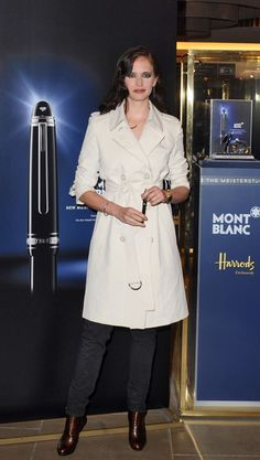 Trendy Trenches at a Mont Blanc Event - Style Crush: Eva Green - Photos