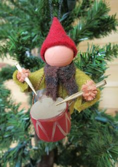 Little Drummer Boy Christmas Ornament by ModerationCorner on Etsy