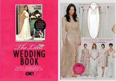 """For the Bride To Be looking for the Vintage Femme  Ok Magazine Featuring Roz la Kelin bridal gown """"Zella """"  in """"The Little Wedding Book"""" as a top contender."""