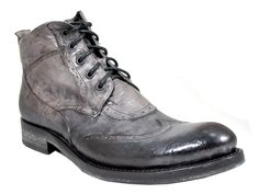 Davinci Shoes New York - Jo Ghost 2956 Italian Wing Tip Ankle Boot in Distressed Grey, $375.00 (http://www.davincishoesvillage.com/2956/)