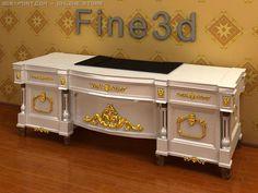 3D Model Antique08028Desk c4d, obj, 3ds, fbx, ma, lwo 16260