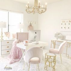 Blush Pink Home Office Tour. Simple Home Office Ideas. 5 Home Office Decorating Ideas Decor, Home Office Decor, Pink Home Offices, Interior, Chic Home, Home Decor, Office Furniture, Interior Design, Office Design