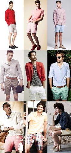 Key #tips for the summer season. Men's Key Summer Shorts Lookbook. Of all the look, I'd go for the one with the checkered short. That style suits me I think.