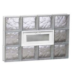 Clearly Secure 27 in. Frameless Wave Pattern Vented Glass Block Window Clearly Secure 27 in. Wave Pattern Glass Block Window with Hopper. Glass Block Windows, Glass Blocks, Framing Materials, Building Materials, Brighten Room, Traditional Windows, Basement Windows, House Windows, Window Sizes