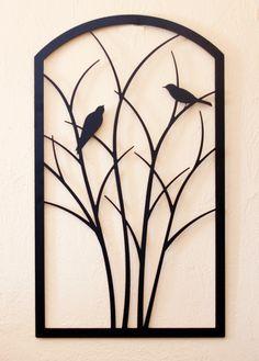Birds on Shrub by Trellis Art Designs Modern Window Design, Window Grill Design, Door Design, Metal Garden Gates, Metal Garden Art, Home Interior Catalog, Decorative Metal Screen, Steel Gate Design, House Outside Design