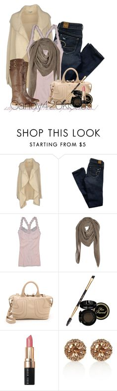 """""""Untitled #96"""" by candy420kisses ❤ liked on Polyvore featuring Le Ragazze Di St. Barth, American Eagle Outfitters, Comptoir Des Cotonniers, See by Chloé, Too Faced Cosmetics, Bobbi Brown Cosmetics, River Island and Twelfth Street by Cynthia Vincent"""