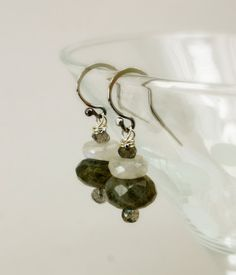 Gemstone Earrings Drop Earrings Dangle Earrings by jihidesigns