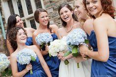 Hydrangeas - blue and white -