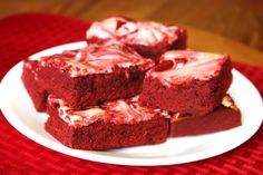 Reviewz & Newz: Red Velvet Cream Cheese Brownies