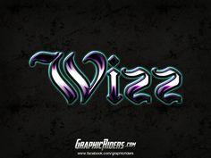 GraphicRiders | Fantasy style – Wizz (free photoshop layer style, text effect) #graphicriders #freebies