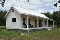 This is a tiny house and small cottage combo by Kanga Room Systems in Texas. The main cottage is and the tiny house is Shed Homes, Prefab Homes, Tiny Homes, Barn Homes, Loft Plan, Cabin In The Woods, Tiny House On Wheels, Shed Plans, Porch Plans